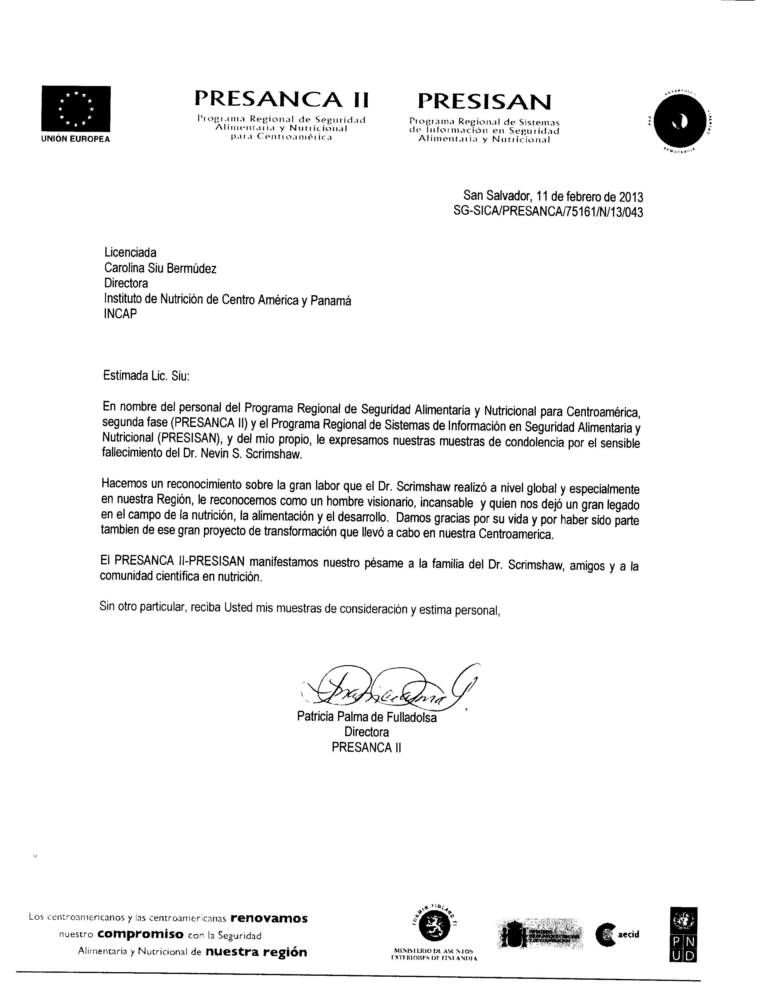 SG-SICA-PRESANCA-75161-N-13-043-INCAP